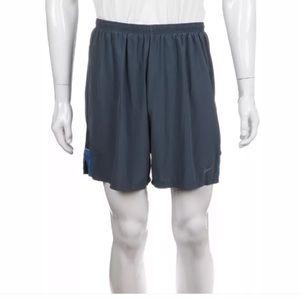 Nike athletic men's shorts blue Large
